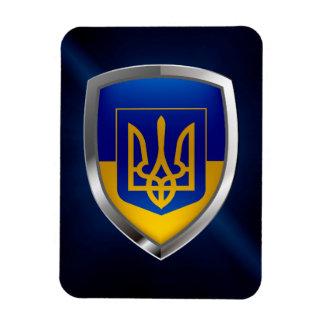 Ukraine Metallic Emblem Magnet