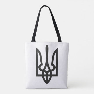Ukraine national emblem country symbol flag tote bag