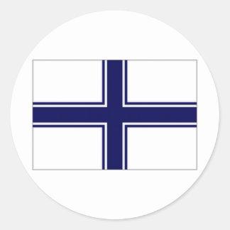 Ukraine Naval Ensign Classic Round Sticker
