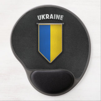 Ukraine Pennant with high quality leather look Gel Mouse Pad