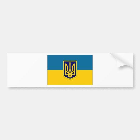 Ukraine President at sea Flag Bumper Sticker