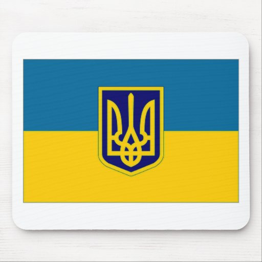 Ukraine President at sea Flag Mouse Pads