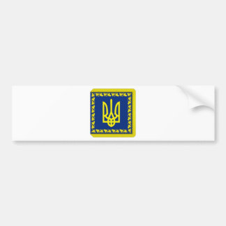 Ukraine President on land Flag Bumper Sticker