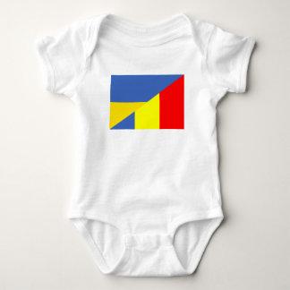 ukraine romania flag country half symbol baby bodysuit