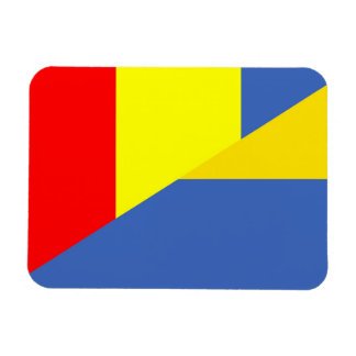 ukraine romania flag country half symbol magnet