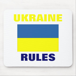 UKRAINE RULES MOUSE PAD