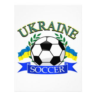 Ukraine soccer ball designs letterhead