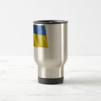 Ukraine Traditional Waving Flag Travel Mug