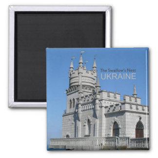 Ukraine Travel Souvenir Photo Magnet Swallows Nest