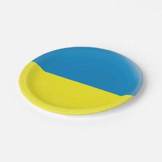 Ukraine Ukrainean Ukraini Flag Paper Plate