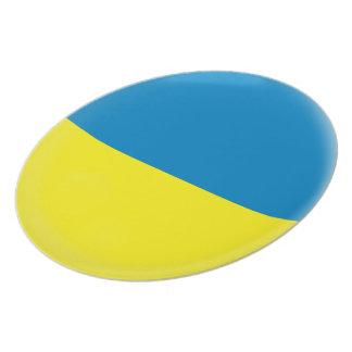 Ukraine Ukrainean Ukraini Flag Plate