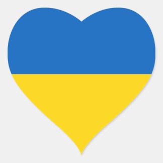 Ukraine/Ukrainian Flag Heart Sticker