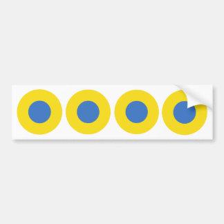 Ukrainian Air Force Roundel Bumper Sticker
