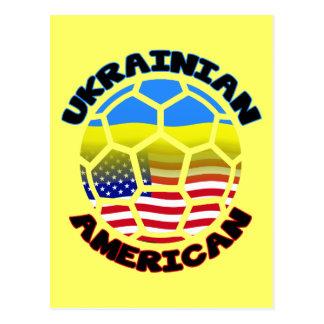 Ukrainian American Soccer Ball Postcard
