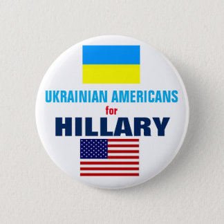 Ukrainian Americans for Hillary 2016 2 Inch Round Button
