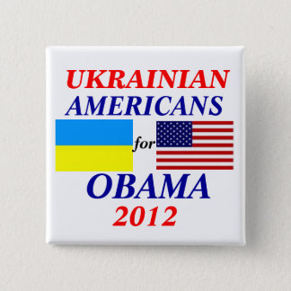 Ukrainian americans for Obama 2 Inch Square Button