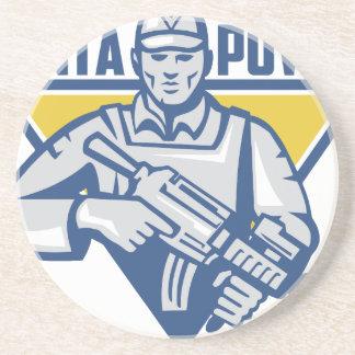 Ukrainian Army Junta Power Beverage Coaster