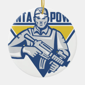 Ukrainian Army Junta Power Ceramic Ornament