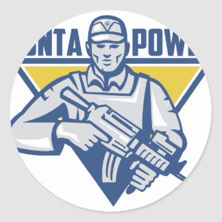 Ukrainian Army Junta Power Classic Round Sticker