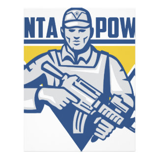 Ukrainian Army Junta Power Custom Letterhead