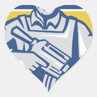 Ukrainian Army Junta Power Heart Sticker
