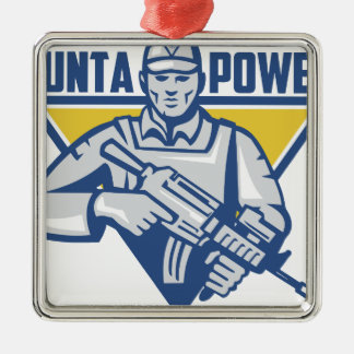 Ukrainian Army Junta Power Metal Ornament