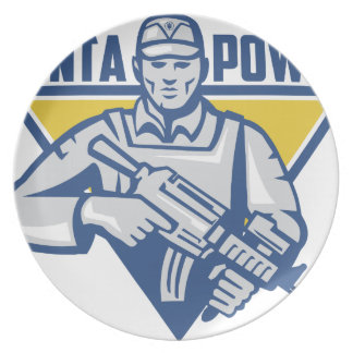 Ukrainian Army Junta Power Party Plates