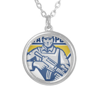 Ukrainian Army Junta Power Silver Plated Necklace