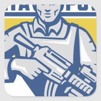 Ukrainian Army Junta Power Square Sticker