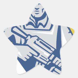 Ukrainian Army Junta Power Star Sticker
