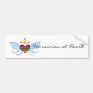 Ukrainian at Heart Bumper Sticker