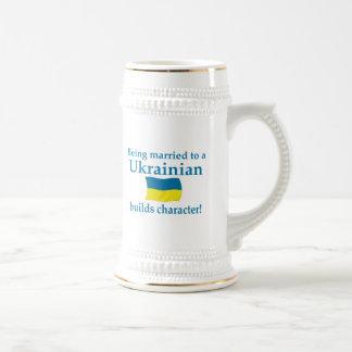 Ukrainian Builds Character 18 Oz Beer Stein