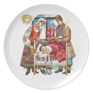 Ukrainian Christmas Day Party Plate