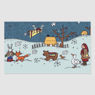 Ukrainian Christmas Eve Sticker