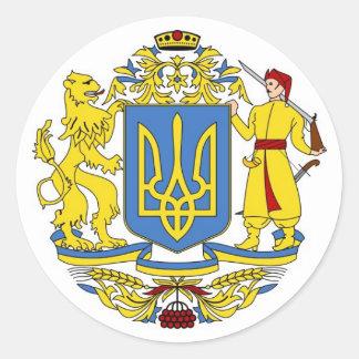 Ukrainian Coat of Arms Classic Round Sticker