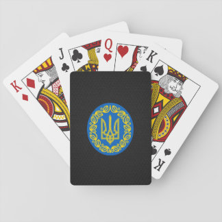 Ukrainian coat of arms playing cards