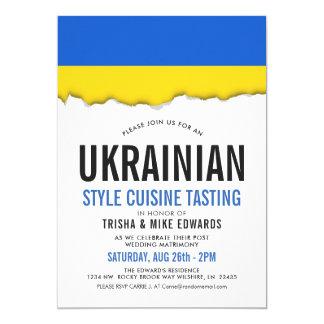 Ukrainian Cuisine   Party Flag Invite