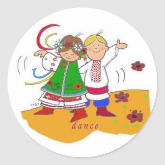 Ukrainian Dance Class Today! Classic Round Sticker