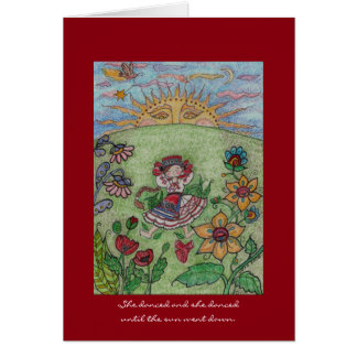 Ukrainian Dancer, Until the Sun Went Down Folk Art Card