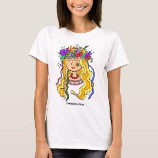 Ukrainian Diva Ukrainian Folk Art T-Shirt