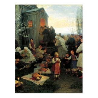 Ukrainian Easter/velyk Den' Blessing Postcard