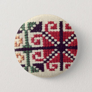Ukrainian Embroidery 2 Inch Round Button
