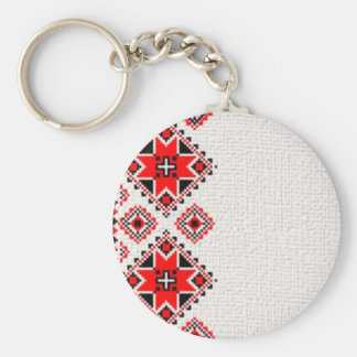 Ukrainian embroidery keychain