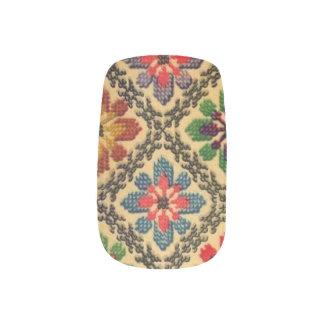 Ukrainian Embroidery VintageTransCarpathian Floral Nail Wraps