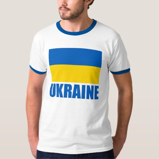 Ukrainian Flag Blue Text T-Shirt