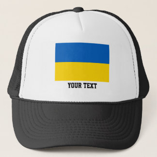 Ukrainian flag trucker hat