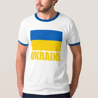Ukrainian Flag Yellow Text T-Shirt