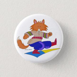 Ukrainian Foxy Dancer 1 Inch Round Button