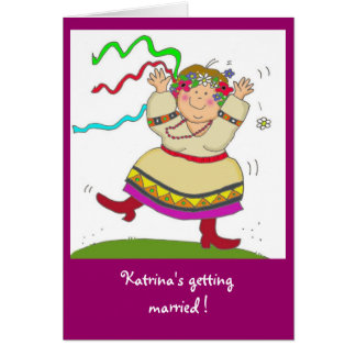 Ukrainian Girl Bridal Shower Card