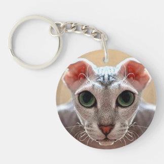 Ukrainian Levkoy Cat Acrylic Keyring Double-sided